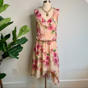 Three Eighty Two Sleeveless Floral Dress